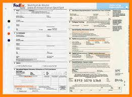 9 Fedex Air Waybill Form Download Lbl Home Defense Products