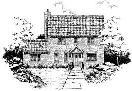 sketch of a georgian style cottage houseplans cottage georgian