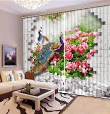 Patterned Curtains Living Room Online Get Cheap Patterned Blackout Curtains Aliexpresscom