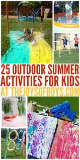 outdoor activities for kids. Outdoor Summer Activities For Kids
