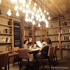 coffee shop lighting. the lighting and of course book shelf no ladder though coffee shop