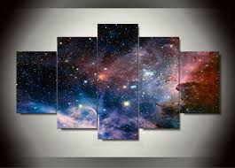 5 panel wall art Space Painting home decoration canvas prints pictures for  living room framed art canvas print jjk0074