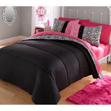 Pink And Zebra Bedroom Your Zone Piece Zebra Bedding Comforter Set Walmartcom