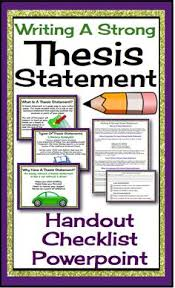 Writing a thesis statement for a critical essay