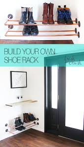 Diy Shoe Rack Diy Copper Shoe Rack How To