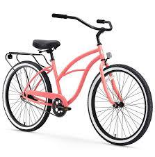 Cruiser Bike Size Chart Sixthreezero Around The Block Womens Beach Cruiser Bicycle Or Electric Bike 24 Inch And 26 Inch
