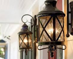 image of new hanging front porch light