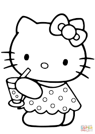 Small Picture Hello Kitty Summer coloring page Free Printable Coloring Pages