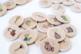 Magnetic Chore Chart Buttons Handmade Round Wooden Magnetic Chore Charts Gadgetsin