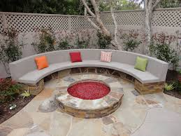 love curved fire pit bench outdoor contemporary plans