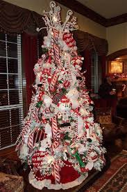Image: Several Christmas trees, custom decorated by Mary Teat, were on  display throughout