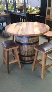 whisky barrel furniture custom made barrel pub table old whiskey barrel furniture whisky barrel furniture