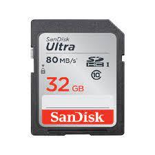 Thẻ nhớ SanDisk SDHC 32 GB Ultra Class 10 80MB/s (Bảo hành 5 năm) - Máy Ảnh  Xách Tay Nhật