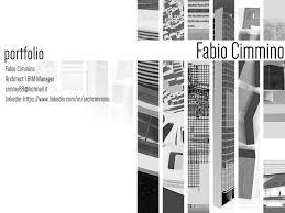 Design Manager Portfolio Portfolio Architect Bim Manager By Fabio Cimmino Issuu