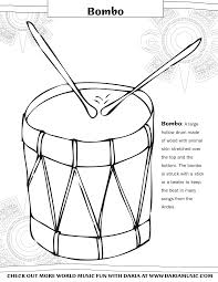 Hispanic Heritage Coloring Pages Color The Instruments From Hispanic Heritage Tiny Tapping Toes