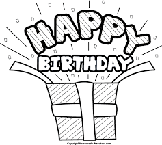 birthday present clip art black and white. Modren Art Transparent Library Happy School Picture Black And White Download Birthday  Clipart  In Present Clip Art Black And White S