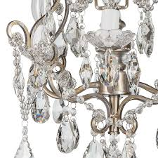 shabby chic ceiling light lovely theresa vintage silver crystal chandelier mini plug in swag glass