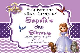 sofia the first invite template invitations ideas sofia birthday party invitations templates