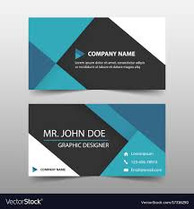Namecard Format Blue Corporate Business Card Name Card Template