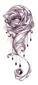 rose vine tattoo designs. Plain Rose Rose Vine Tattoo Flash Designs  With Vines Tattoo Design In H