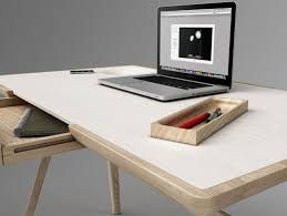 detail of Minimalist Desk in Artistically Antique Structure