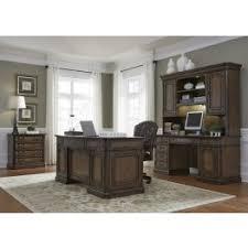 amelia antique toffee jr executive home office set home office desks sets t11 desks