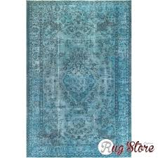 overdyed rug rug cm ft faded blue color vintage rug vintage rugs rug overdyed rugs blue overdyed rug vintage