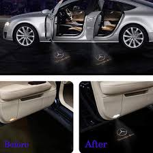 👍you name it and you've got it! 2x Led Car Door Logo Projector Lights For Mercedes Benz C Series W204