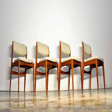 select modern set of four erik buch style teak dining chairs ideas with teak dining chairs