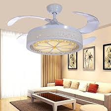 tiptonlight 42 inch ceiling fans with led light kits and remote control contemporary golden crystal
