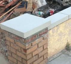 concrete block wall caps new precast wall cap for this homes existing planter wall and pilaster