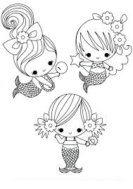 Cute Mermaid Coloring Pages At Getcoloringscom Free Printable