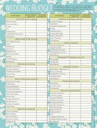 Wedding Budget List Under Fontanacountryinn Com