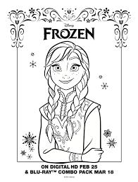 Anna Coloring Sheet