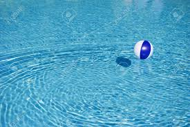 beach ball in pool. Floating Blue And White Beachball In Swimming Pool Stock Photo - 13863533 Beach Ball