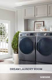 Wash a full load in only 36 minutes using Samsung's Front Load Washer and  Dryer with