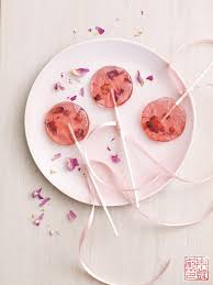 rose saffron lollipops