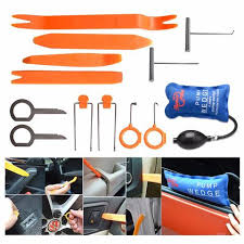car locksmith tools. Automotive Interior Trim Tool Set And Much More ! Radio Panel Removal Tools,  Pump Wedge Car Locksmith Tools