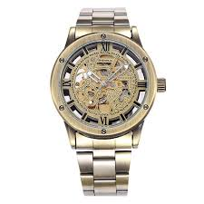 compare prices on water resistant self winding watches men online fashion skeleton gold self wind mechanical steel clock water resistant men women stainless steel band watches