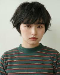 ナチュラル 暗髪 ショート 就活 Reina 454344hair Hair2019