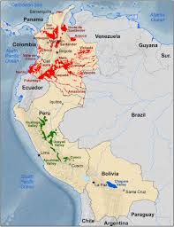 Growing Zone Chart Usa Map Outlining Each Of The Known South American Coca Growing