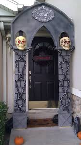 Halloween Door Ideas Diy Halloween Arch Made Mostly Out Of Styrofoam And Only A Little