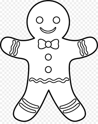 the gingerbread man gingerbread house coloring book outline paper cliparts