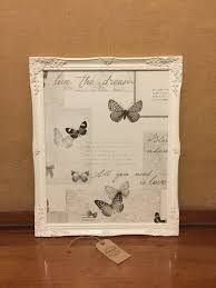 Butterfly Memo Board Enchanting Framed Magnet Board White Framed Memo Board Office Memo Etsy