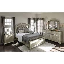 Queen Bedroom Set Beautiful Serena Dresser And Mirror Platinum American Signature