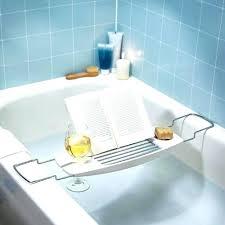 bathtub cads at bath factory chrome solid caddy with book holder