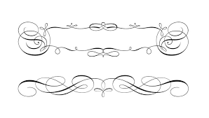 swirly scroll frame and border vectors free vector art stock graphics images