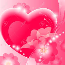 Pictures Of Hearts And Flowers Stock Illustration