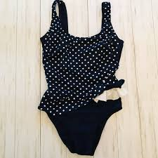 Longitude Swimwear Size Chart Longitude Blue White Dots Long Torso Swimsuit 14