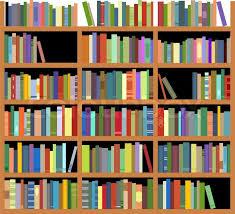 isolated bookshelf stock vector colourbox